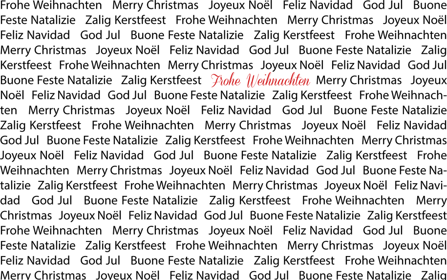 Frohe Weihnachten in mehreren Sprachen Fotografie Jonas Hartz Gütersloh OWL Bielefeld Photography